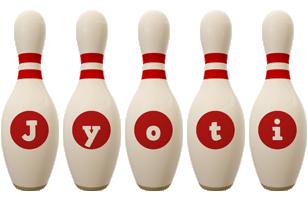 Jyoti bowling-pin logo