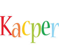 Kacper birthday logo