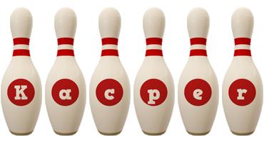 Kacper bowling-pin logo