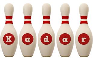 Kadar bowling-pin logo