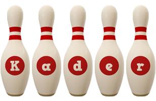 Kader bowling-pin logo