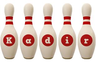 Kadir bowling-pin logo