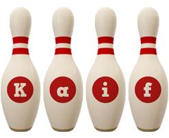 Kaif bowling-pin logo