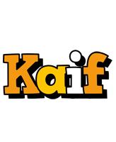 Kaif cartoon logo