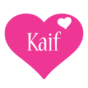 Kaif love-heart logo