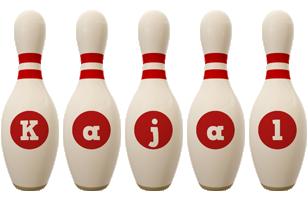 Kajal bowling-pin logo