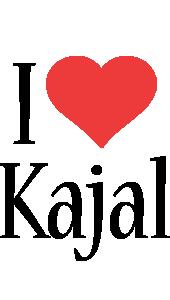 Kajal i-love logo