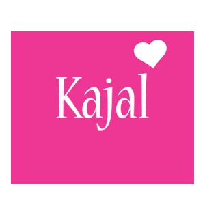 Kajal love-heart logo