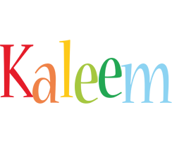 Kaleem birthday logo