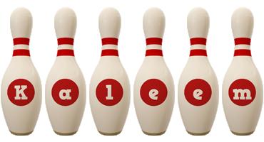 Kaleem bowling-pin logo