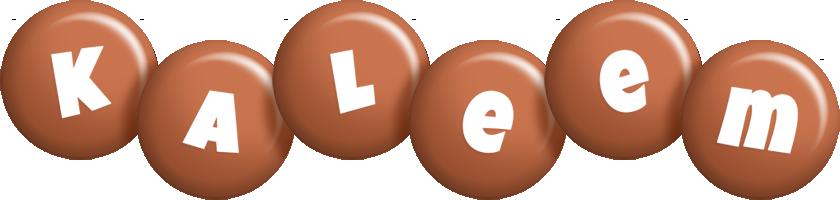 Kaleem candy-brown logo