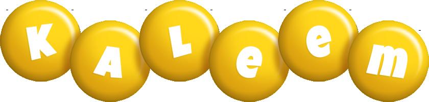 Kaleem candy-yellow logo