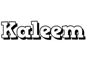 Kaleem snowing logo