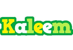 Kaleem soccer logo