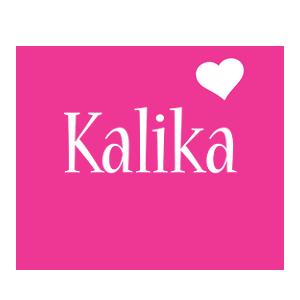 Kalika love-heart logo