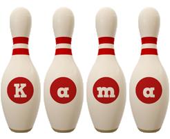Kama bowling-pin logo