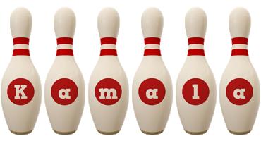 Kamala bowling-pin logo