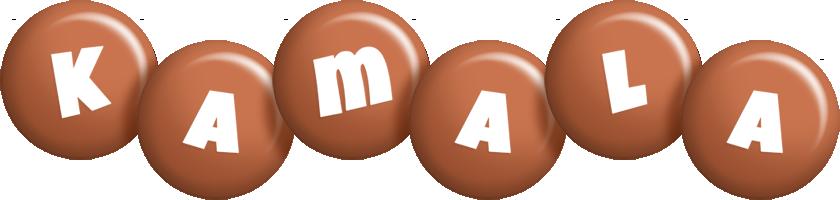 Kamala candy-brown logo