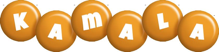 Kamala candy-orange logo