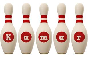 Kamar bowling-pin logo