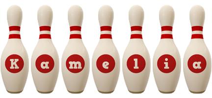 Kamelia bowling-pin logo