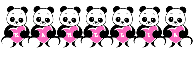 Kamelia love-panda logo