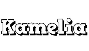 Kamelia snowing logo