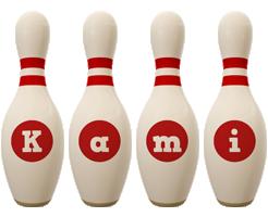 Kami bowling-pin logo