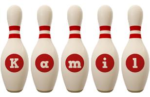 Kamil bowling-pin logo