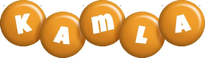 Kamla candy-orange logo