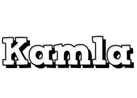 Kamla snowing logo
