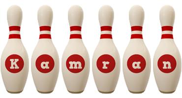 Kamran bowling-pin logo
