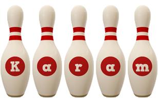 Karam bowling-pin logo