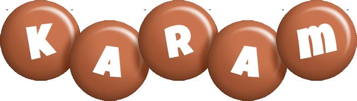 Karam candy-brown logo