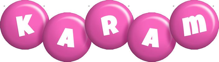 Karam candy-pink logo