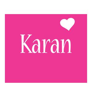 Karan love-heart logo
