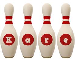 Kare bowling-pin logo