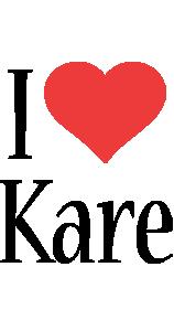 Kare i-love logo