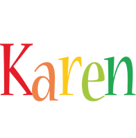 Karen birthday logo