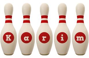 Karim bowling-pin logo