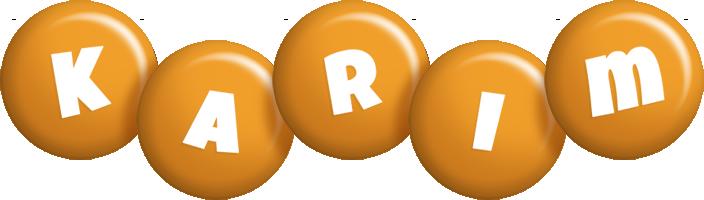 Karim candy-orange logo