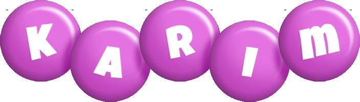 Karim candy-purple logo