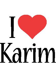 Karim i-love logo