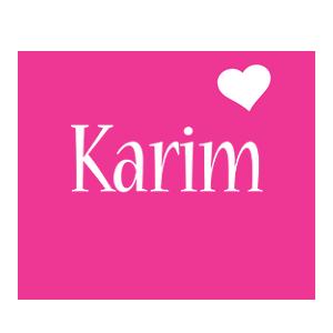 Karim love-heart logo