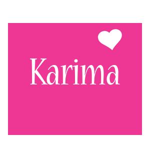Karima love-heart logo