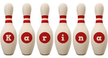 Karina bowling-pin logo