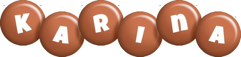 Karina candy-brown logo