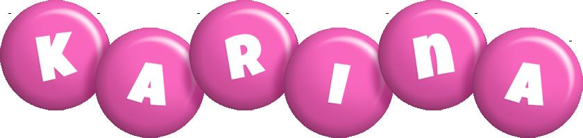 Karina candy-pink logo