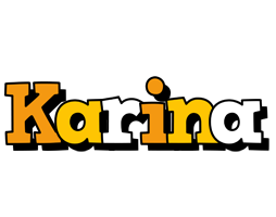 Karina cartoon logo