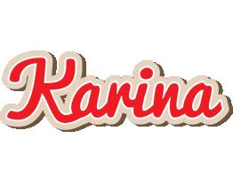 Karina chocolate logo